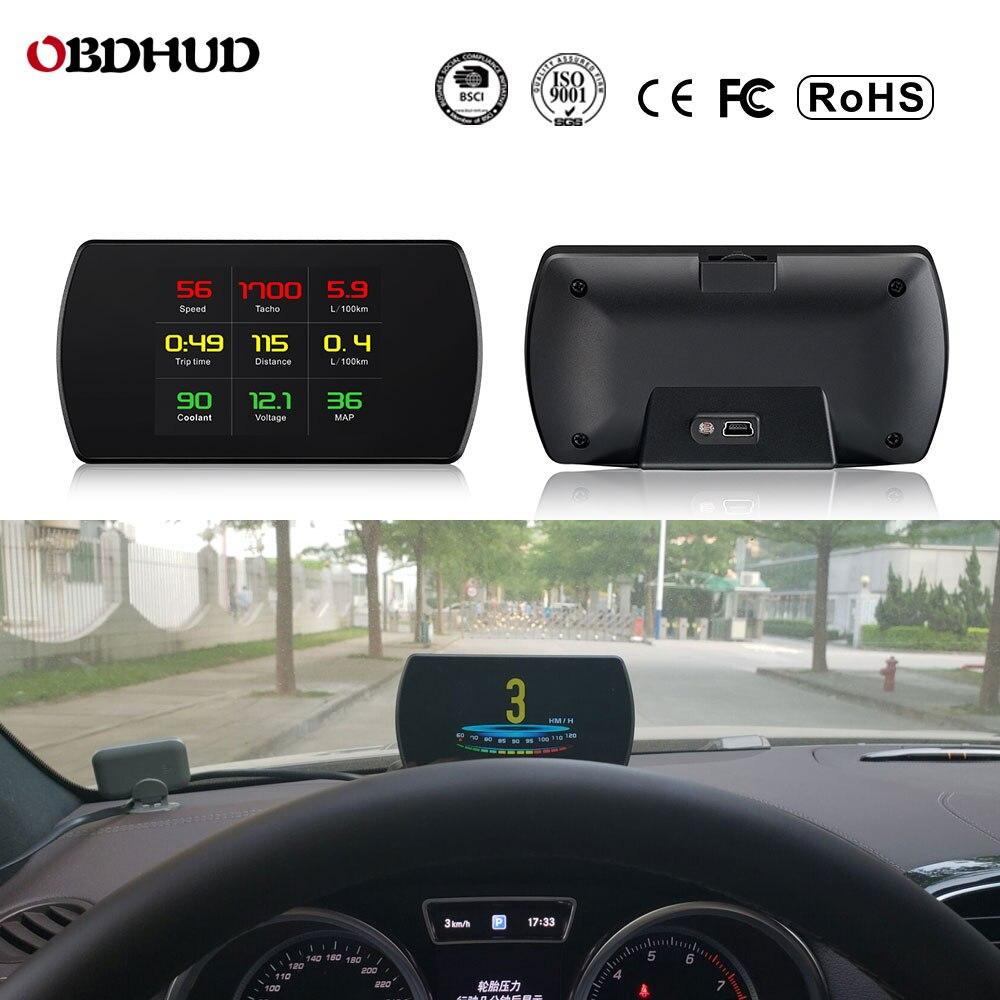 25 Functions 48 ECU Car Data OBD2 Digital OBD Gauge HUD Auto Diagnostic Tools GPS Digital Meter TFT HD Display For All Cars
