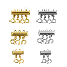 3 jogos/lote multi lagosta fecho camadas strand colar fecho conectores para diy fazer pulseira jóias acessórios