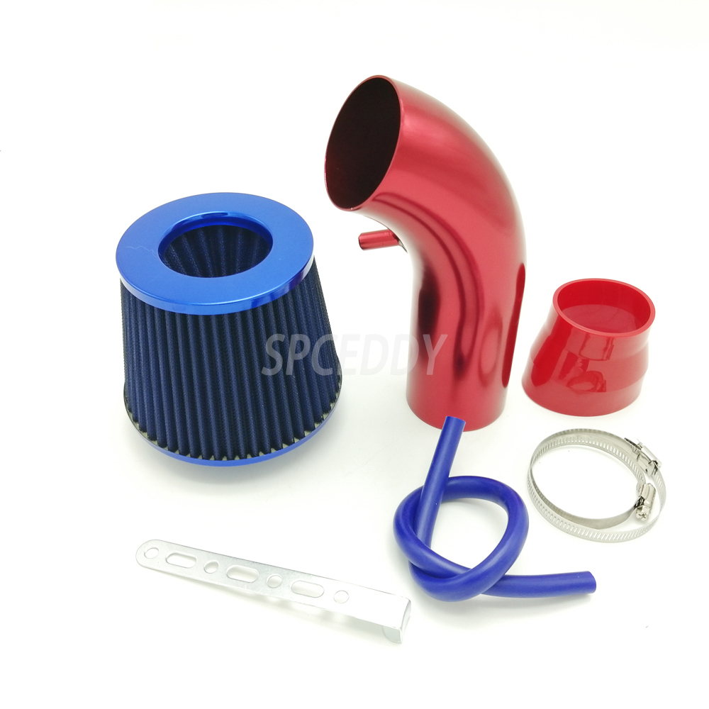Car Air Intake System Air Filter Intake Kit 76mm 3inch High Flow Racing Sport Cold Air Intake Kit Universal For Car