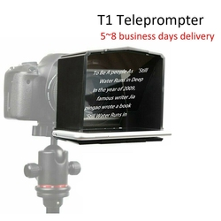 Smartphone Teleprompter with Adapter Ring Remote Controller for Interview Speech Video Teaching Suitable for Phones Under 6 inch