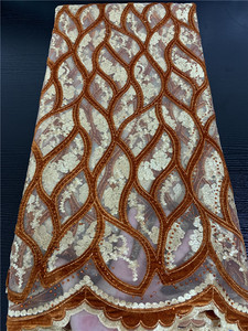 Image 4 - Embroidery Velvet Lace Fabrics High Quality African Lace with Stones French Tulle Mesh Lace Fabric for Wedding Dress APW2763B