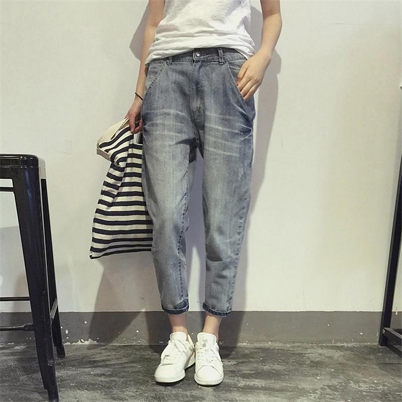 Plus Size Boyfriend Jeans For Women Denim Harem Pants Loose High Waist Jeans Pants Female Casual Streetwear Mom Jeans 5XL Q1797