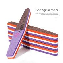 1pcs / lot sided nail files buffer 60/100/150 mower lime art tools washable polishing sanding file sponge