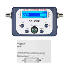 SF-95DR Digitale Satelliet Finder Meter Satlink Receptor TV Signaal Ontvanger Sat Decoder DVB-T2 Satfinder Kompas LCD FTA Schotel(China)