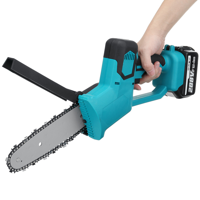 288V 8 Inch Electric Saw Chainsaw with 2PC 22980mAh Battery Brushless Motor Rechargeable Wood Cutter Also For Makita Battery 2