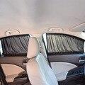 2x50 л растягивающийся Алюминиевый автомобильный козырек  боковое окно  солнцезащитный козырек  авто окно  солнцезащитный козырек с эластичн...