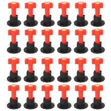 75 pièces/ensemble cales de niveau entretoises pour Carrelage mural Carrelage niveau remplaçable aiguilles en acier localisateur entretoises pince