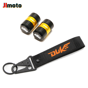 Image 5 - For KTM Duke 125 200 250 390 690 Motorcycle CNC Accessories Wheel Tire Valve Caps Cover Embroidery Key Chain Keychain