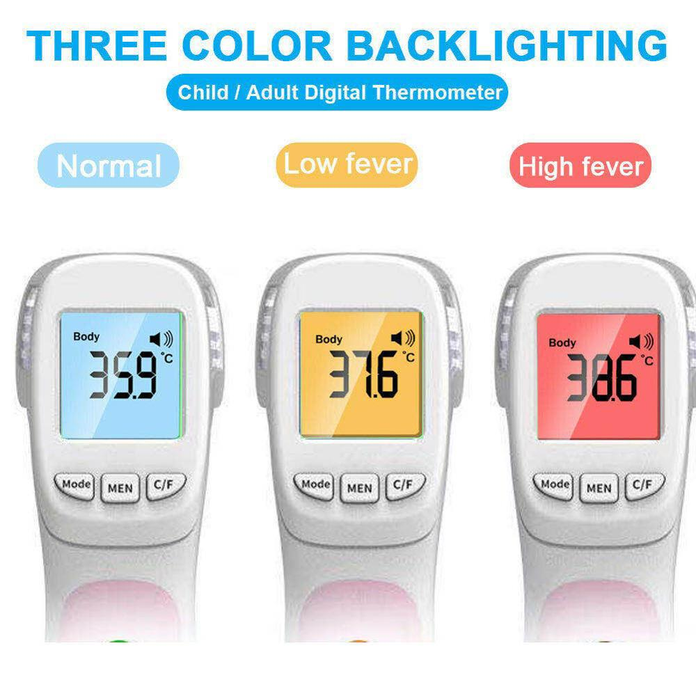 Non Contact Infrared Thermometer Body Temperature Fever Digital Measure Tool Big Screen Backlight Forehead Thermometer