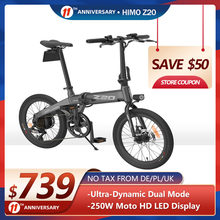 Himo Electric Bike Z20 20inches Folding Electric Bicycle 36V Lithium Battery 25km/h Urban 250w Ebike City Assist Adult E-Bike