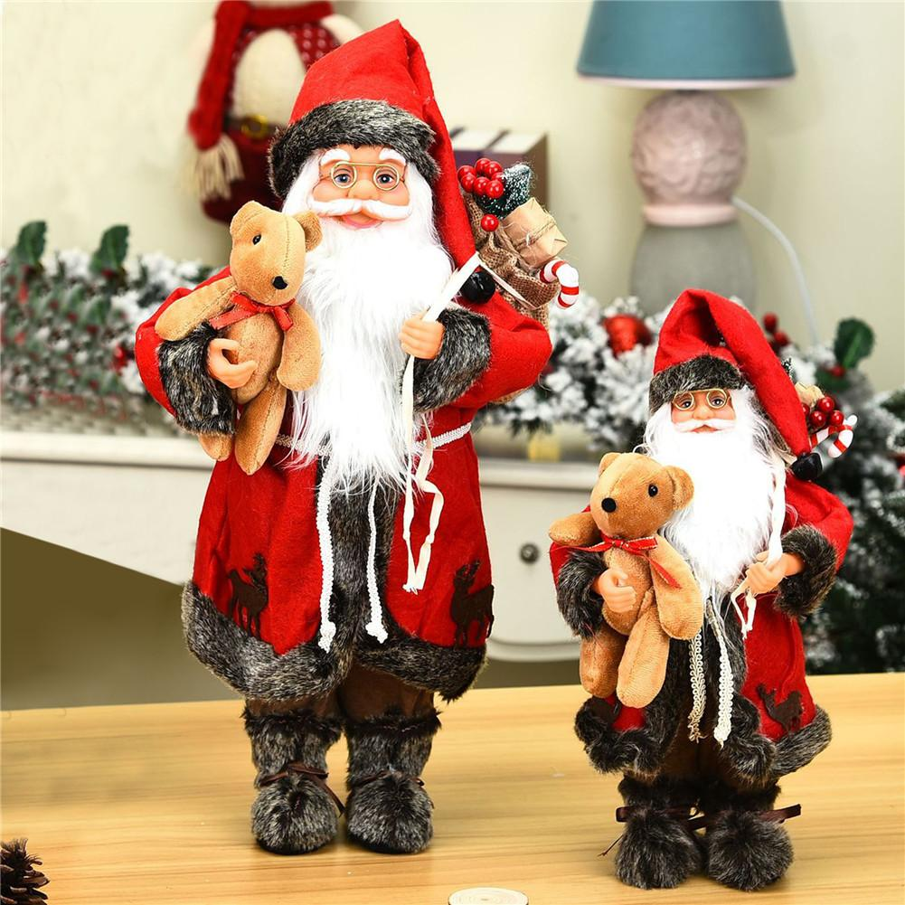 Santa Claus Doll Large Christmas Tree Ornament New Year Home Decoration Kids Gift Merry Christmas Decoration Santa Figurine Doll