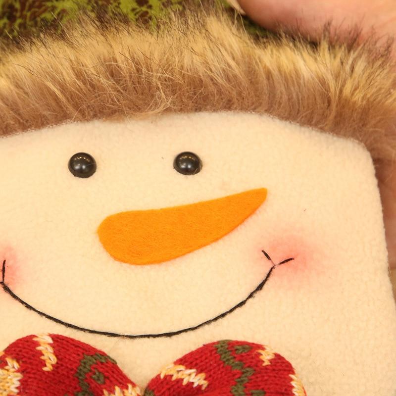 Novedosos soportes de regalo X'MAS Santa Claus muñeco de nieve ciervo bolsa de diseño con campana Navidad Fiesta suministros 18*43 cm 10 uds/lote DEC421 - 3