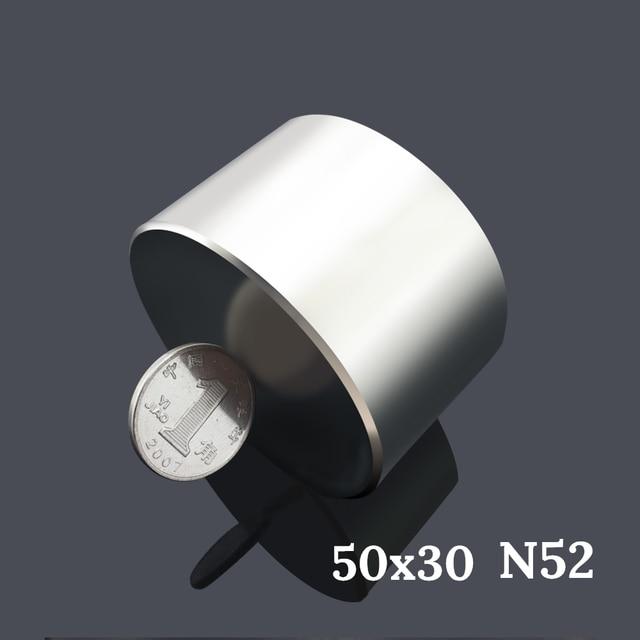 Ímã permanente redondo n52 50x30mm, ímã de neodímio super forte 40x20mm, 1 peça rara terra ndfeb gallium metal