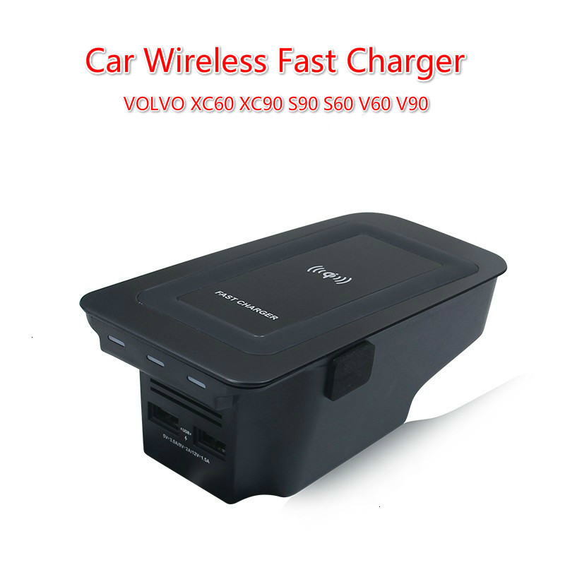 NEW Car Wireless Charger For Volvo XC90 XC60 S90 V90 2018 2019 Special Mobile Phone Charging Plate Car Accessories V60 2020 S60