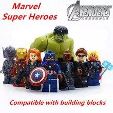 Disney Super Heroes Bouwstenen Marvel Avengers 4 минифигурная машина cijfers Железный человек танос спильгоед Vrienden baksteen