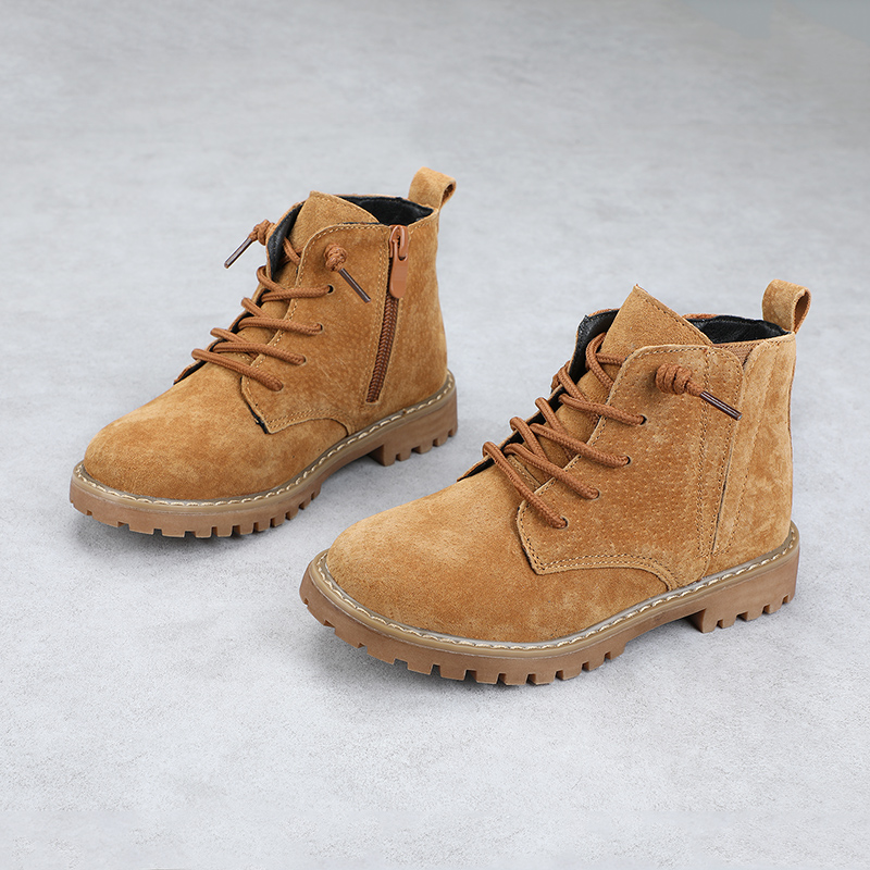 Image 4 - Winter Kids Boots For Boys 2019 Genuine Leather Children Snow Boots Sneakers Toddler Girl Winter Shoes Plush Warm Martin Boots-in Boots from Mother & Kids