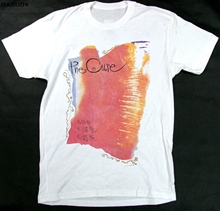 Very RaRe 1987 The Cure Kissing Tour Concert Band Shirt New Wave Smiths 80s Hipster Tees Summer Mens T Shirt