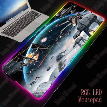 XGZ Star Wars RGB Gaming Large Mouse Pad Gamer Led Computer pad Big  Mat with Backlight Carpet for Keyboard Desk xgz nebula rgb large gaming starry mouse pad gamer led computer pad big mat with backlight for keyboard desk
