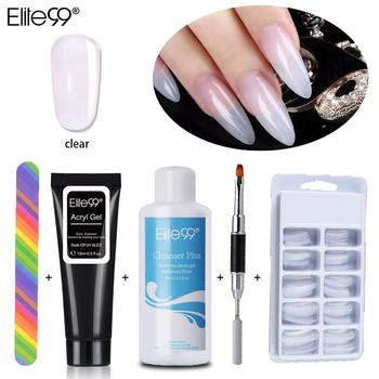 Elite99 Poly Gel Kits Französisch Nail art Klar Camouflage Farbe Nagel Spitze Form Kristall UV Gel Polygel Pinsel Nagel Gel schnell Gebäude