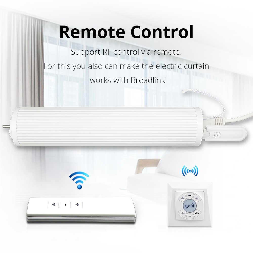 Zemismart Inteligentny, elektryczny karnisz sterowany za pomocą: Amazon Alexa, Google Home, Tuya, Broadlink RF433.