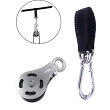 Bearing Pulley Home Gym Stainless Steel Accessories for Fitness Lifting Cable Machine Workout Mute M8 Single Wheel Loading