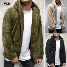 Men #8217 s Clothing Loose Hoodie Man Cardigan Sweater Mens Thick Warm Fluff Cardigans Knitted Sweaters Mans clothes Coat jacket K pop cheap yangxindianzaobanchu Single Breasted Standard Wool Polyester COTTON Solid Turn-down Collar Casual Button Computer Knitted