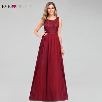 Elegant Burgundy Evening Dresses Ever Pretty EP07482BD Mermaid V-Neck Sleeveless Draped Formal Party Gowns Abiye Gece Elbisesi - discount item  53% OFF Special Occasion Dresses