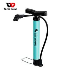 WEST BIKING pompa per bici 120/160PSI acciaio turchese pompa per ciclismo gonfiatore ad aria Schrader Presta Valve Road MTB Bike Tire pompa per bicicletta
