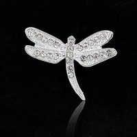 Luxus Libelle broschen Braut brautjungfer schmuck zubehör Korea design edelstahl Broschen für frauen Neue jahr geschenk