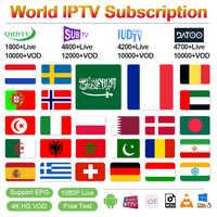 IPTV Francia QHDTV/SUBTV/IUDTV suscripción IPTV Android M3u IPTV árabe Alemania Bélgica España Portugal griego Suecia Italia IP TV