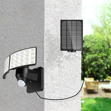 80LED Solar PIR Motion Sensor Wall Light Outdoor 3modes IP65 For Street Garden Path Split/All-in-one 2heads Sercurity Wall Light vioslite hot now product led light source and cool white color temperature cct all in one solar street light