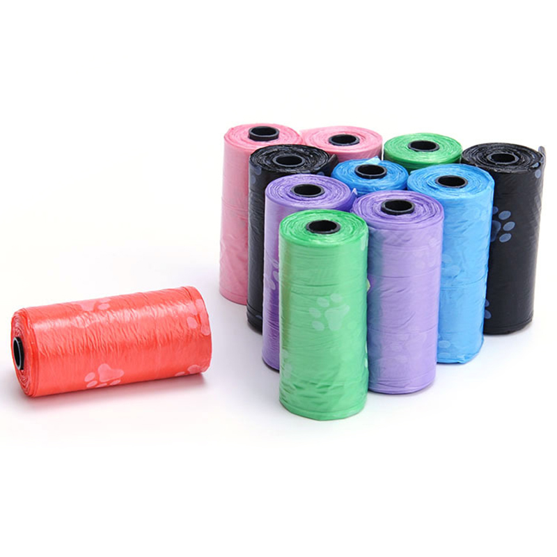 10Rolls 150pcs Transer Pet Supply Printing Cat Dog Poop Bags Refill Clean Up Garbage Bag Bags Outdoor Home Clean Refill Garbage