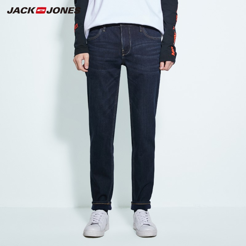JackJones Men's Basic Cotton Stretch Jeans Warm Denim Pants Menswear 219332587