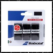 3 sapları/lot Babolat tenis raketi viskozite Pro tur yapışkan kavrama üzerinde Anti skid ter emici yumuşak şal tenis raketi damperi