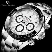 Pagani designfashion masculino relógio de quartzo de luxo relógio esportivo masculino à prova dstainless água aço inoxidável cronógrafo relogio masculino
