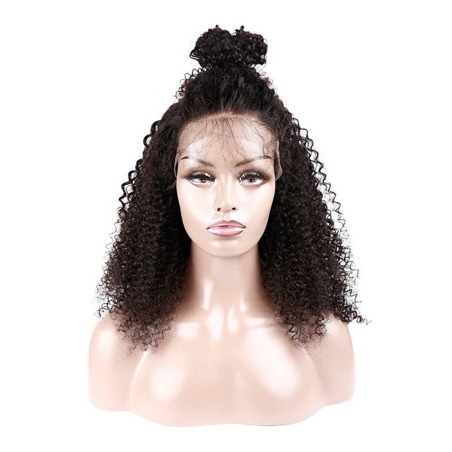Stema Afro Kinky Krullend Pruik 13X4 Lace Front Pruik 8 30Inch Pre Plukken Met Baby Haar 150% Braziliaanse Menselijk Haar Pruiken Voor Zwarte Vrouwen - 5