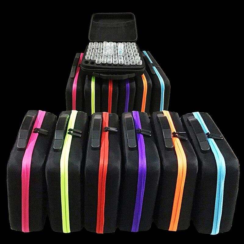 60 бутылок коробка для алмазной живописи контейнер для инструментов Коробка Для Хранения Чехол держатель ручная сумка на молнии дизайн противоударный Прочный
