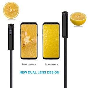 1 м/2 м/3 м/5 м 3в1 USB двойной эндоскоп камера HD Жесткий кабель Инспекционная камера 8 мм 6 светодиодный бороскоп для Android ПК эндоскоп