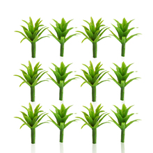 2cm height model green grass cluster miniature ABS plastic color plants for diorama tiny garden parks scenery making