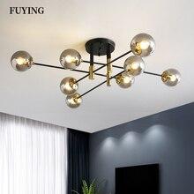 2021 Modern LED Chandelier 4/6/8 Lights E27 Round Ball Light Ceilling Lamps Living Room Kitchen Light Home Decor Indoor Lighting