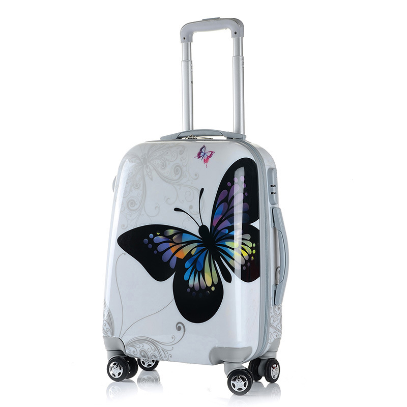 perfect solid color 20/24/28 Inch size Classic fashion handbag and Rolling Luggage Spinner brand Travel Boarding Suitcase - 6