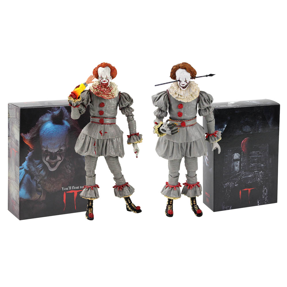 19cm NECA Horror Movie Stephen King's It 2017 Ultimate the Clown Pennywise PVC Action Figure Toy Model da collezione