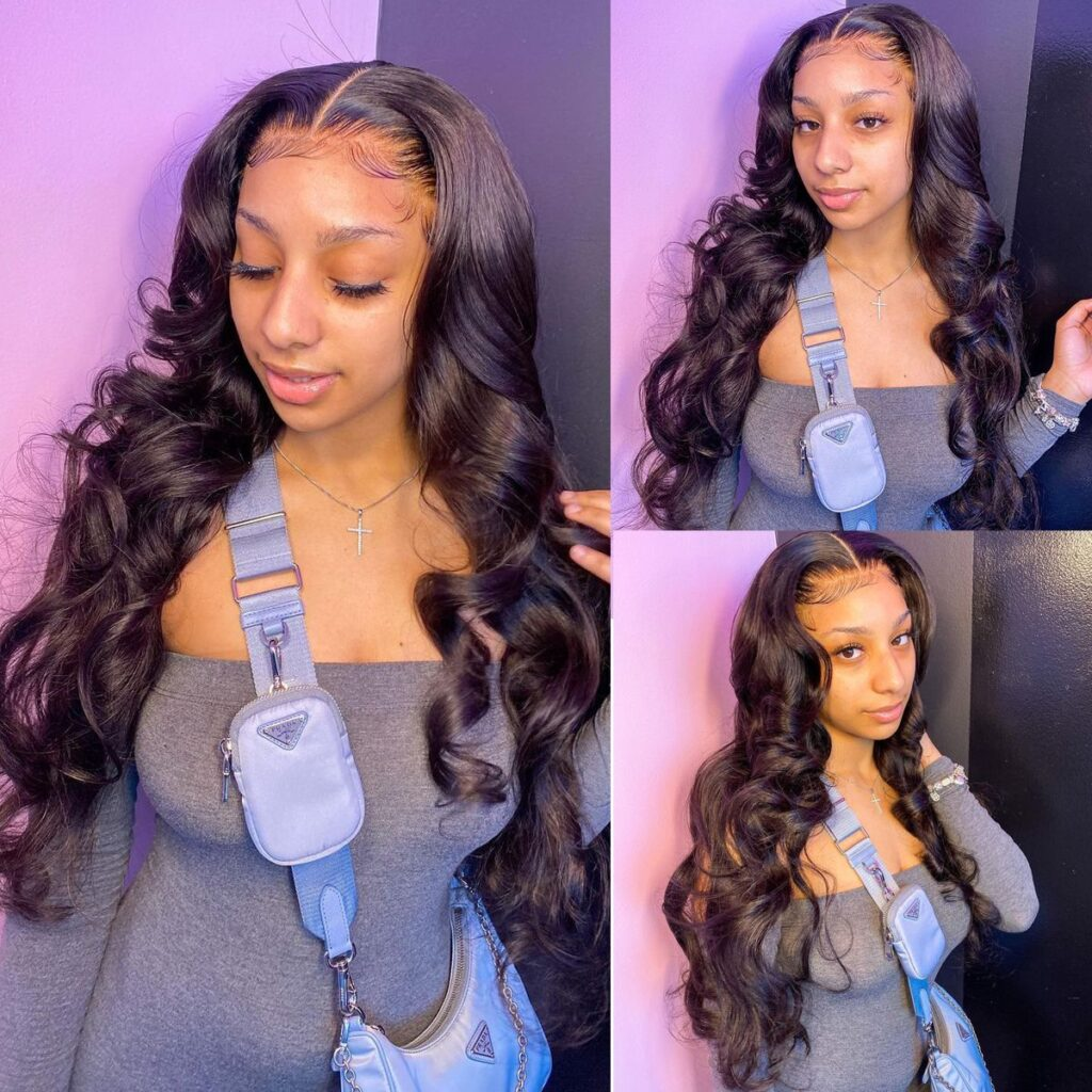 Body Wave Lace Front Human Hair Wigs Transparent Lace Frontal Wig 4