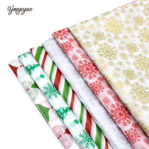 10Pcs/bag Snowflake Print Wrapping Tissue Paper 50*66 Cm Christmas New Year Xmas Party Wedding Flowers Packaging Supplies