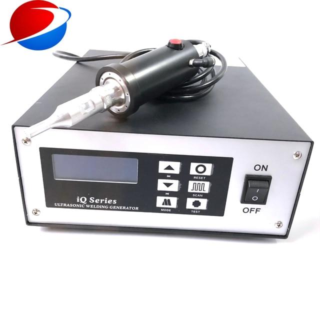 N95 Cup Mask Ear Strap Spot Welding Machine Ultrasonic Welding Equipment Transducer And Generator 35K 800W