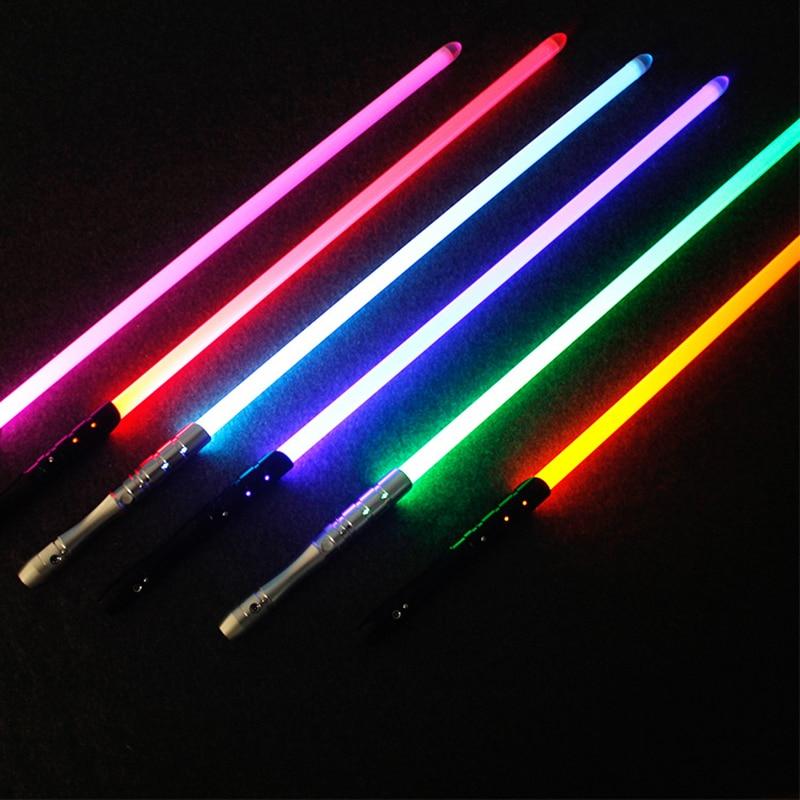 novo 7 cor sabre de luz de metal espada rgb luz laser cosplay menino gril brinquedo