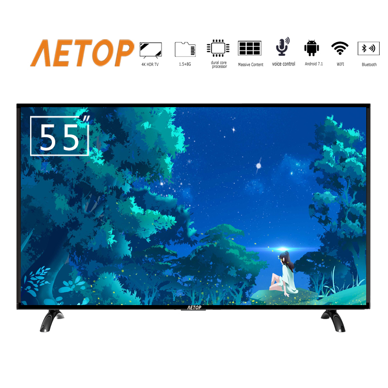 free shipping-smart tv 55 inch 4k ultra hd android television led lcd tv flat screen