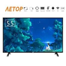 Darmowa wysyłka-smart tv 55 cal 4k ultra hd z systemem android telewizji lcd led tv płaski ekran