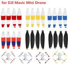 OOTDTY 1/2/4 пары цветной пропеллер с низким уровнем Шум Быстрая настройка Prop лопасти для DJI Mavic мини-Дрон комплект аксессуаров