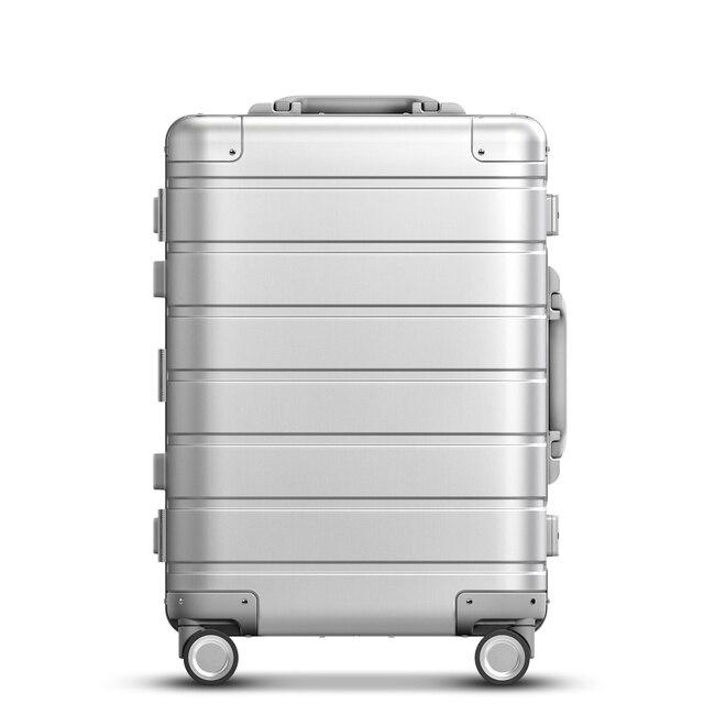 스피너 휠 수하물 여행용 가방 20 인치 캐리 온 Y 벨트 풀로드 탑 그레이드 올 알루미늄 마그네슘 합금